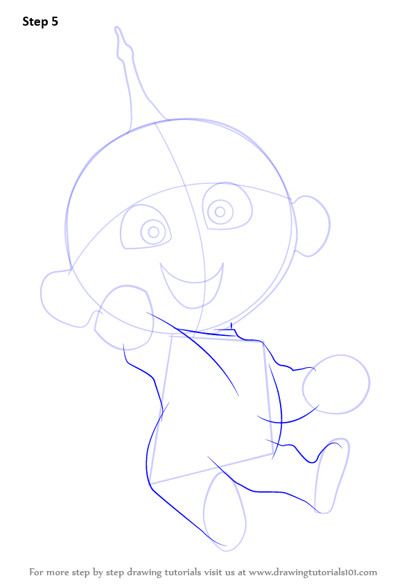 596x843 Learn How To Draw Jack Jack Parr From The Incredibles (The
