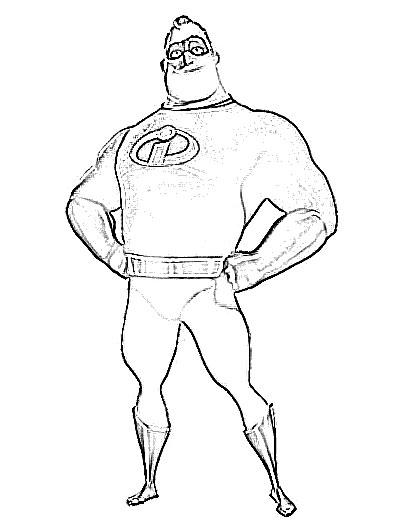 400x526 Mr Incredible Cartoon Sketch