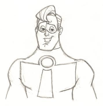 356x366 Mr. Incredible Sketch By Pixarvixen