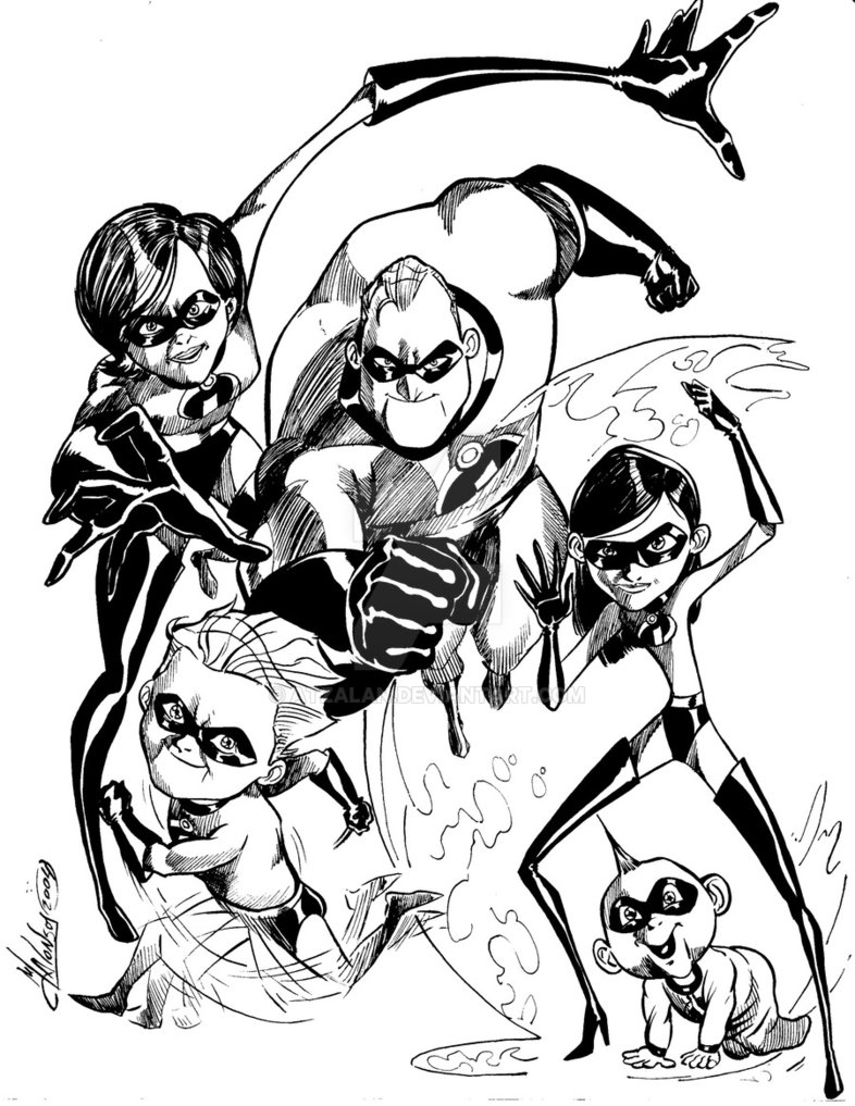 786x1017 The Incredibles By Atzalan