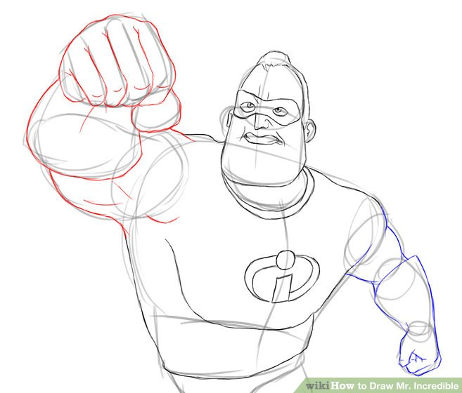657x560 How To Draw Mr. Incredible 15 Steps (With Pictures)