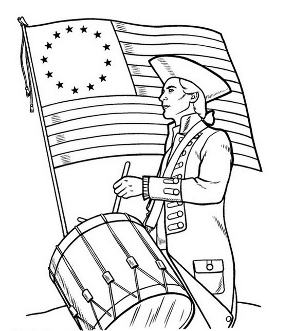 570x644 Independence Day Coloring Pages