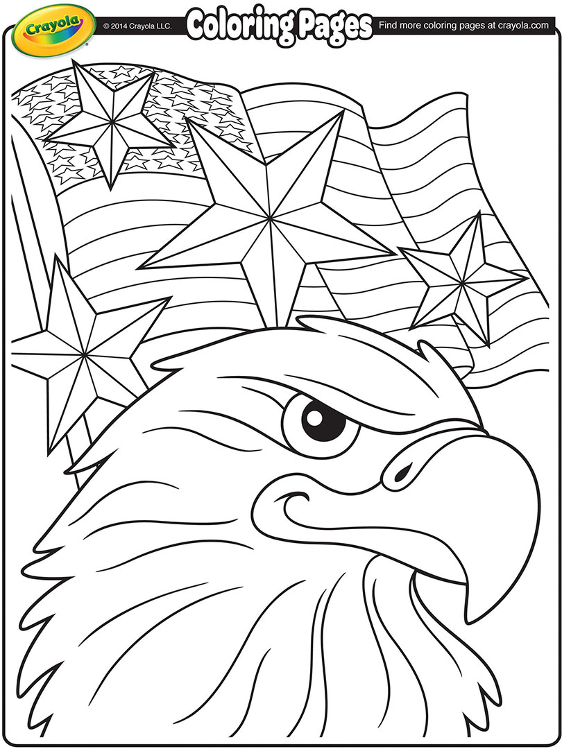 810x1080 Independence Day Eagle Coloring Page