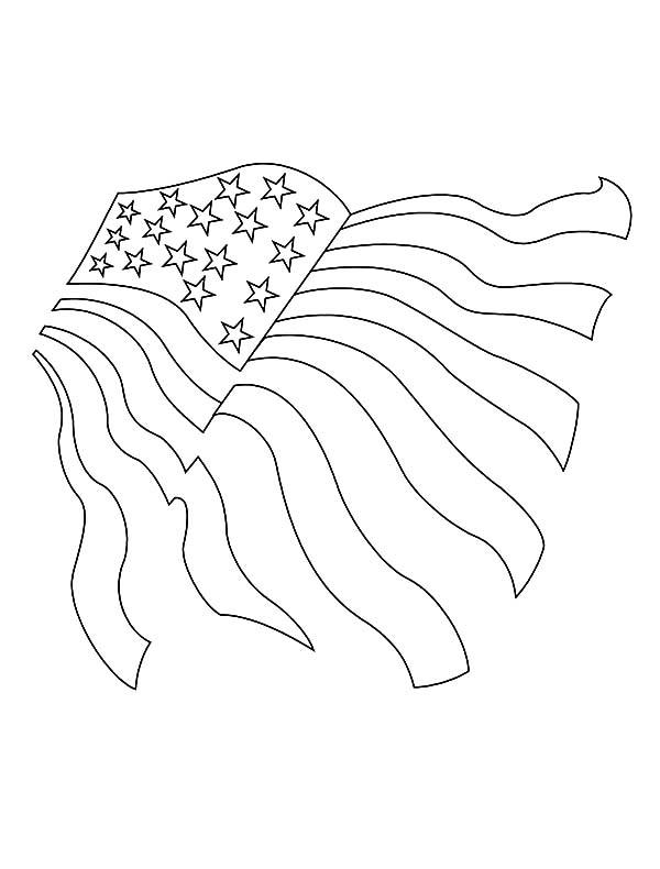 600x790 Drawing Usa Flag For Independence Day Event Coloring Pages Color