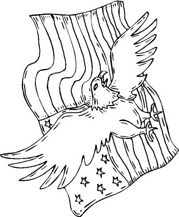 570x690 Independence Day (Fourth Of July ) Coloring Pages For Kids