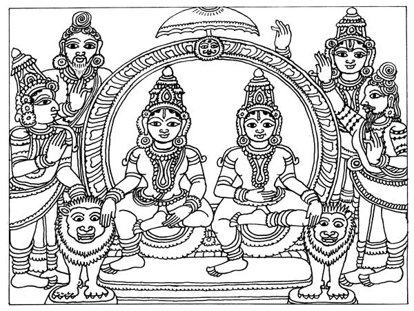 600x452 Heritage Of India Beautiful Kalamkari Painting Hindu Sthan