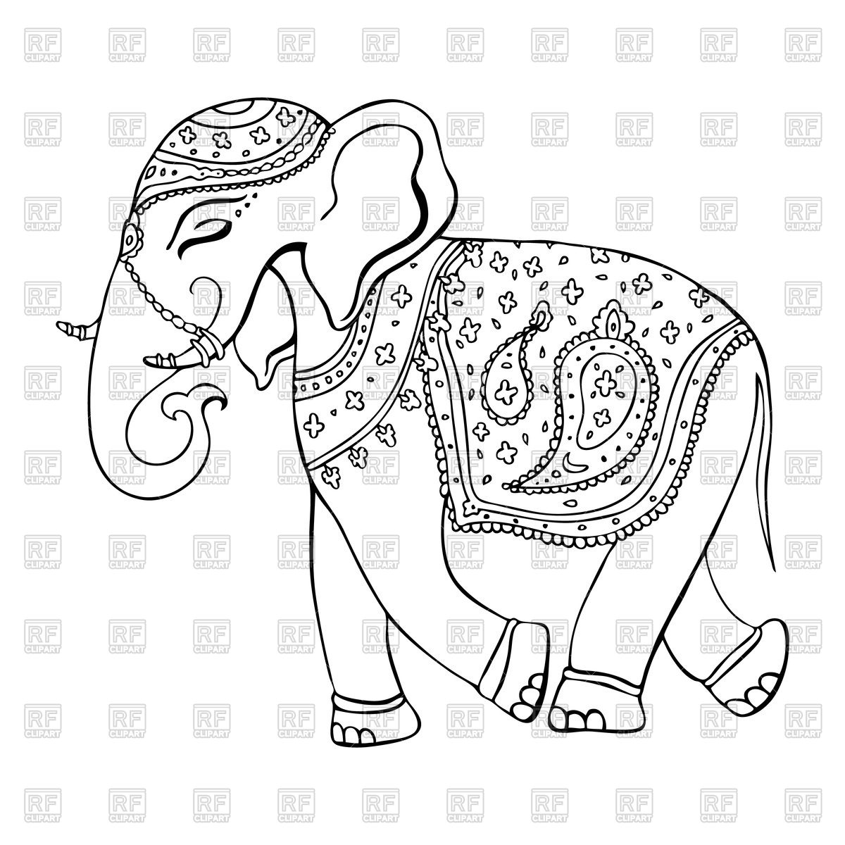 1200x1200 Elephant In Indian Style