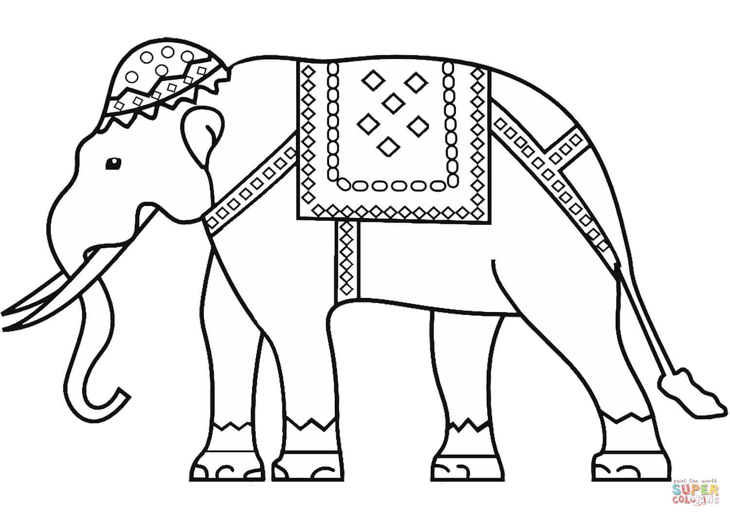 1500x1060 Indian Elephant Coloring Page Free Printable Coloring Pages