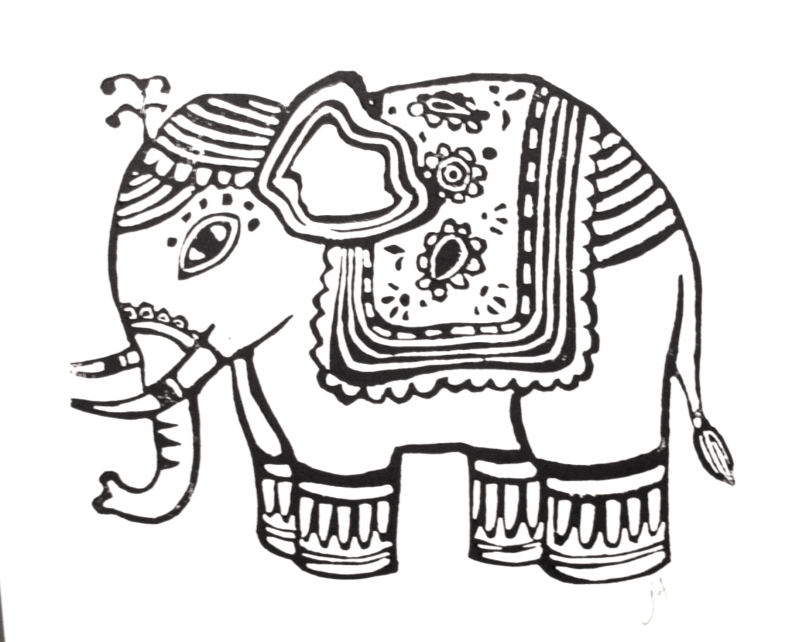 1139x910 Elephant Drawing Design
