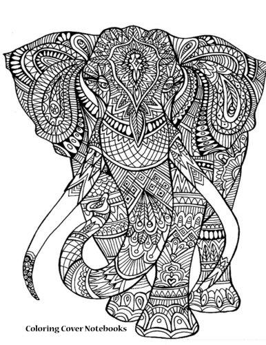 386x500 Coloring Cover Sketchbook (Elephant) Sketchbook For Sketching