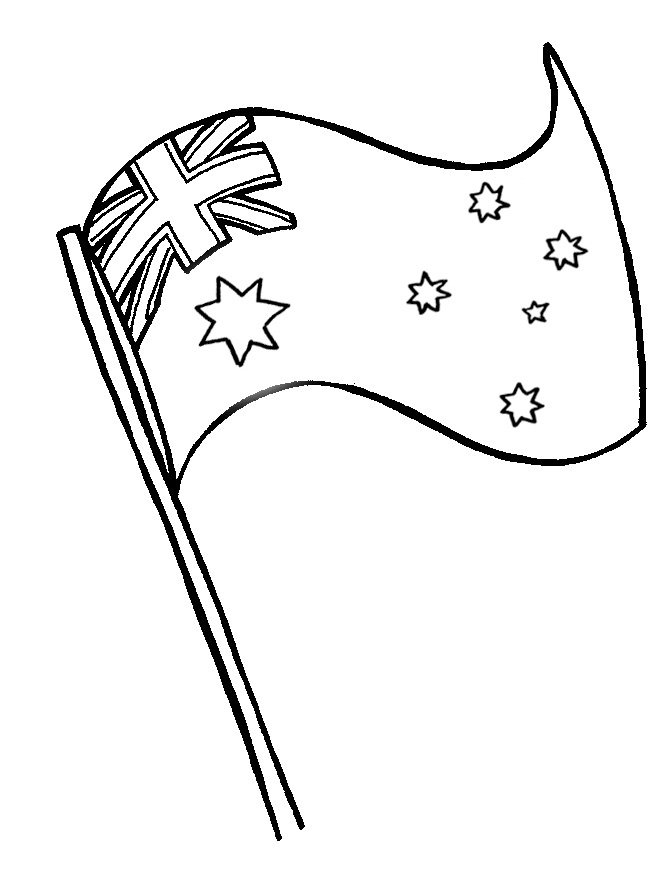 670x879 Colouring Sheet Australia Day
