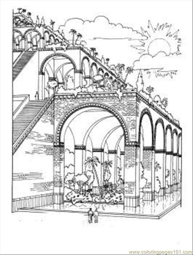 650x858 Gate Coloring Pages
