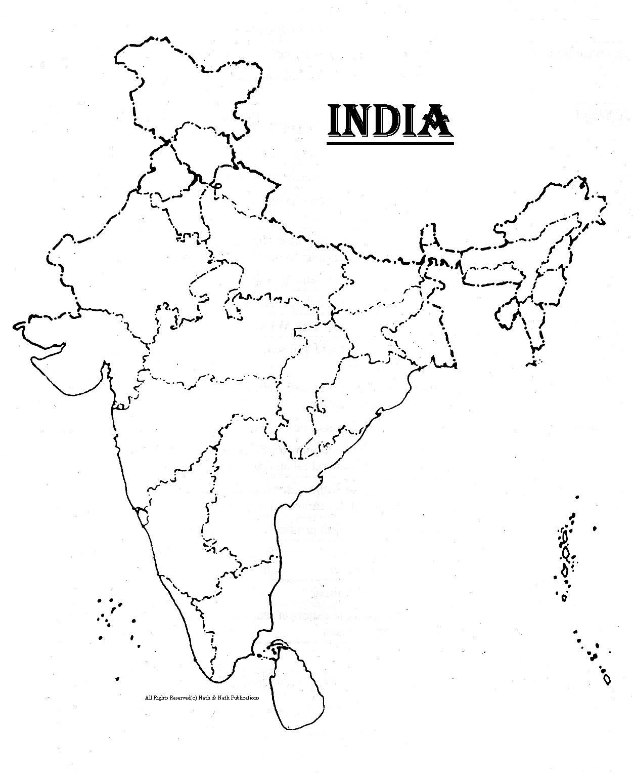 1252x1529 India Map Template Visio Compatible