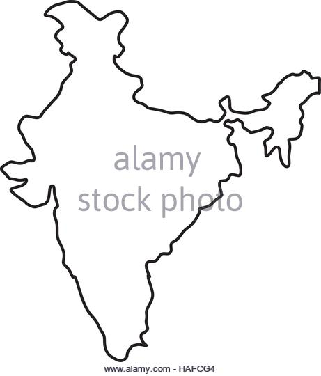 461x540 India Map White Stock Photos Amp India Map White Stock Images
