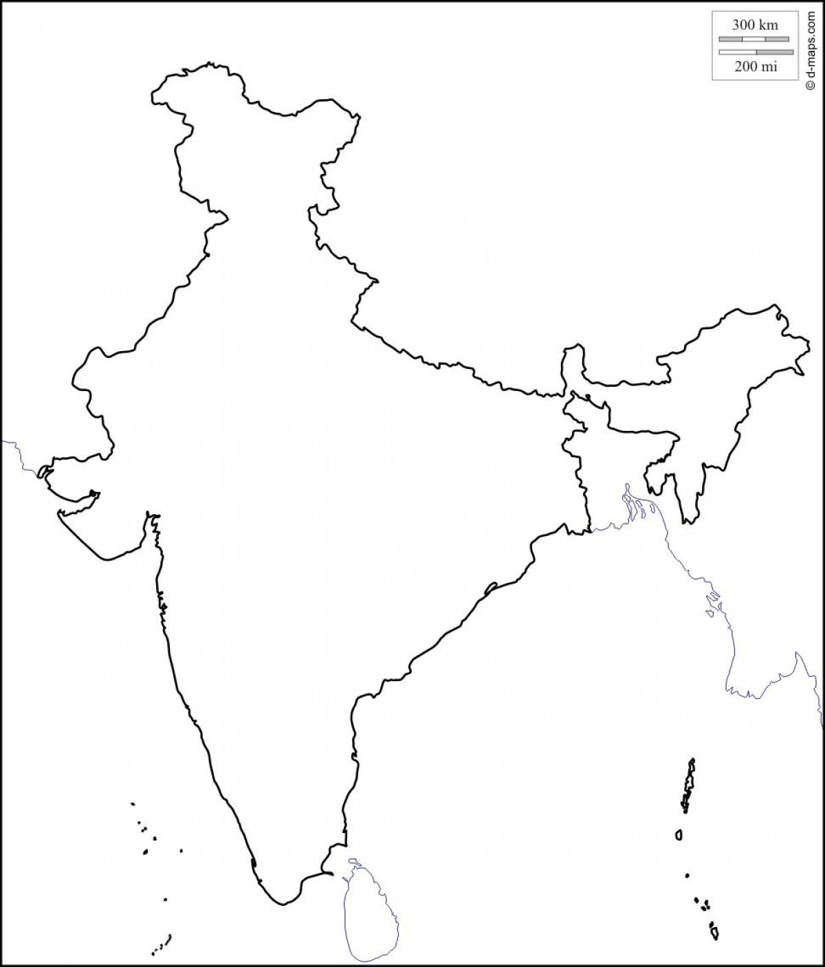 1200x1407 India Map Outline