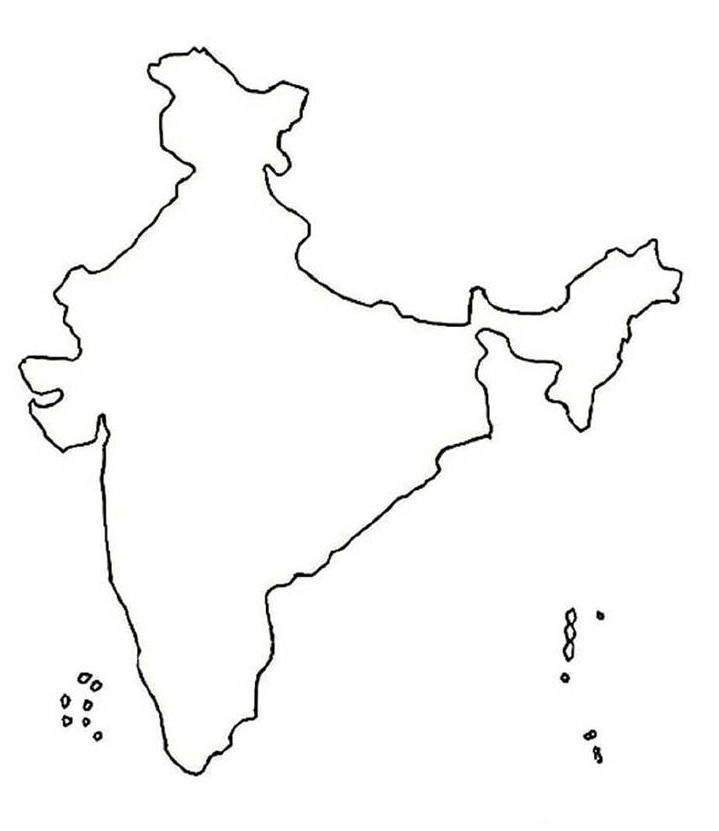 719x831 Indian Map For Coloring Coloring Pages
