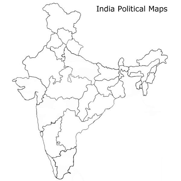 600x600 Indian Political Map Study