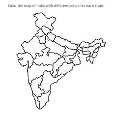 230x230 Royalty Free, Printable, Blank, India Map With Administrative