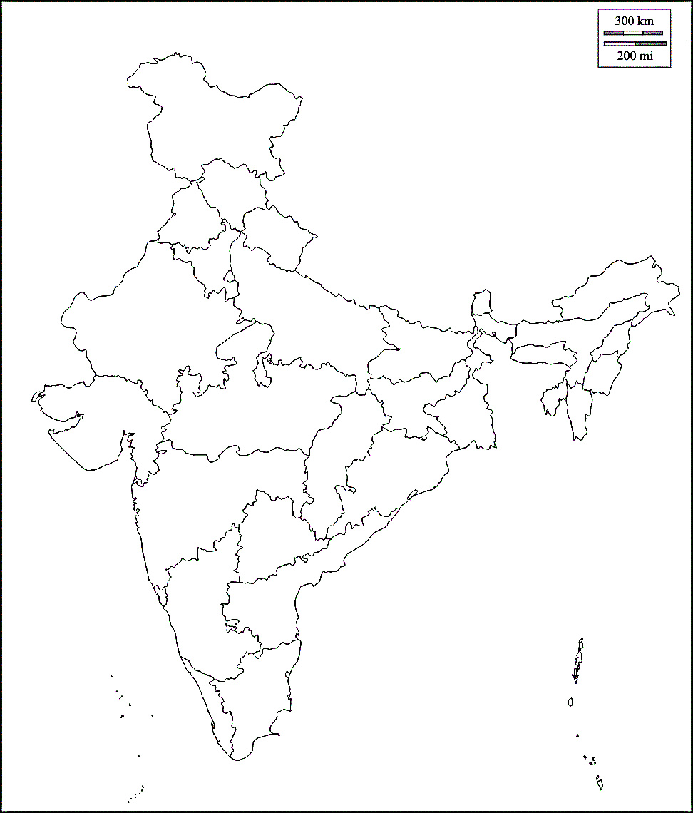 972x1140 Map Of India Outline Of India