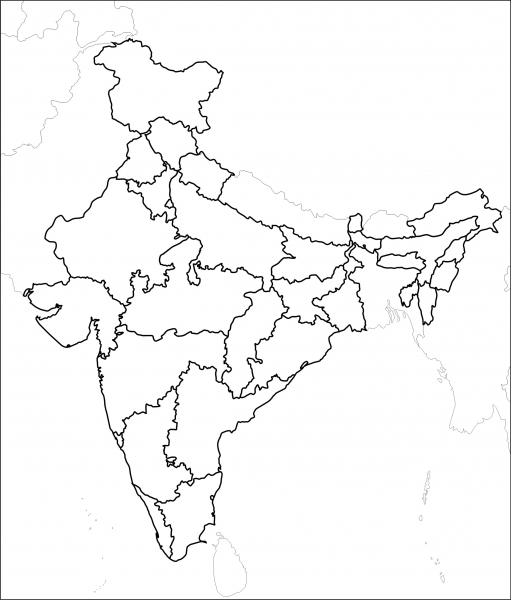 511x600 Free Download Map Of India