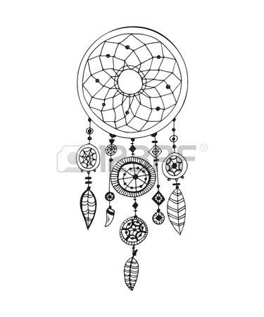 375x450 Dream Catcher And Arrow, Tribal Legend In Indian Style