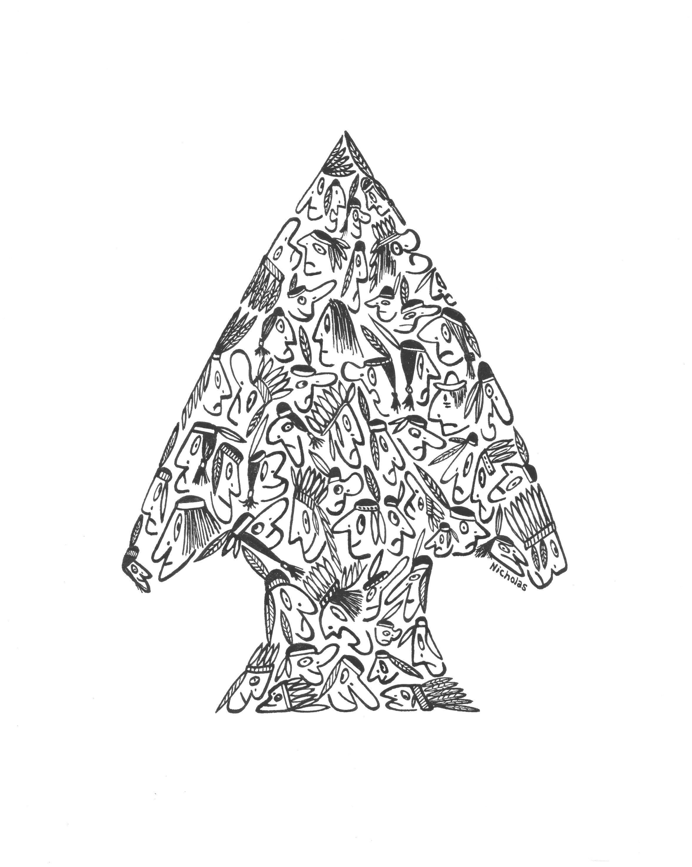 2352x2946 Native American Arrowhead