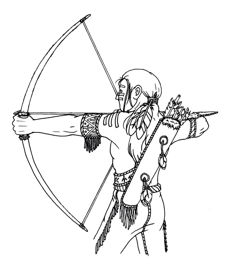 It is a picture of Geeky Native American Arrow Drawing