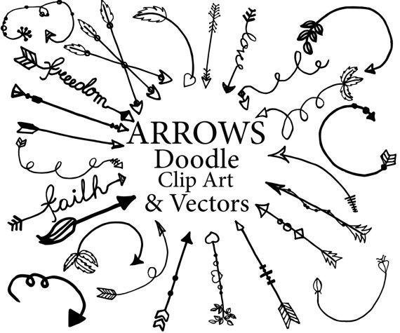 570x475 Arrows Clipart Doodle Arrows Clipart Tribal Clipart Arrows
