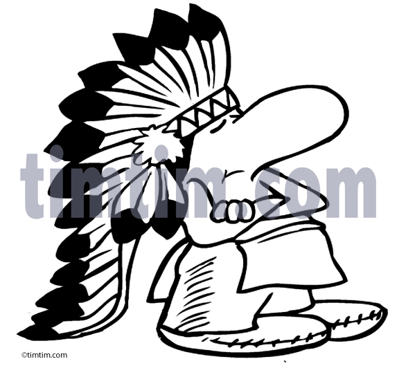 573x532 Free Drawing Of American Indian Chief 2bw From The Category