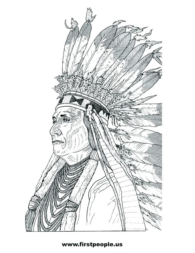 638x826 Here Are Indian Coloring Pages Pictures Chief To Color In Native