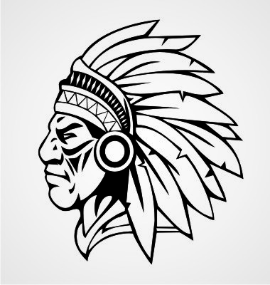380x400 Indian Head Silhouette Clip Art (24+)
