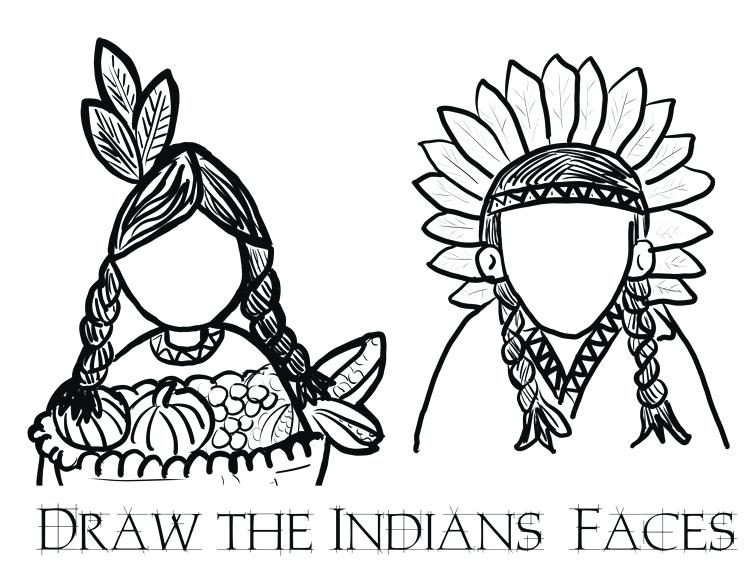 756x578 Long Indian Home Coloring Sheet Little Indian Coloring Sheets