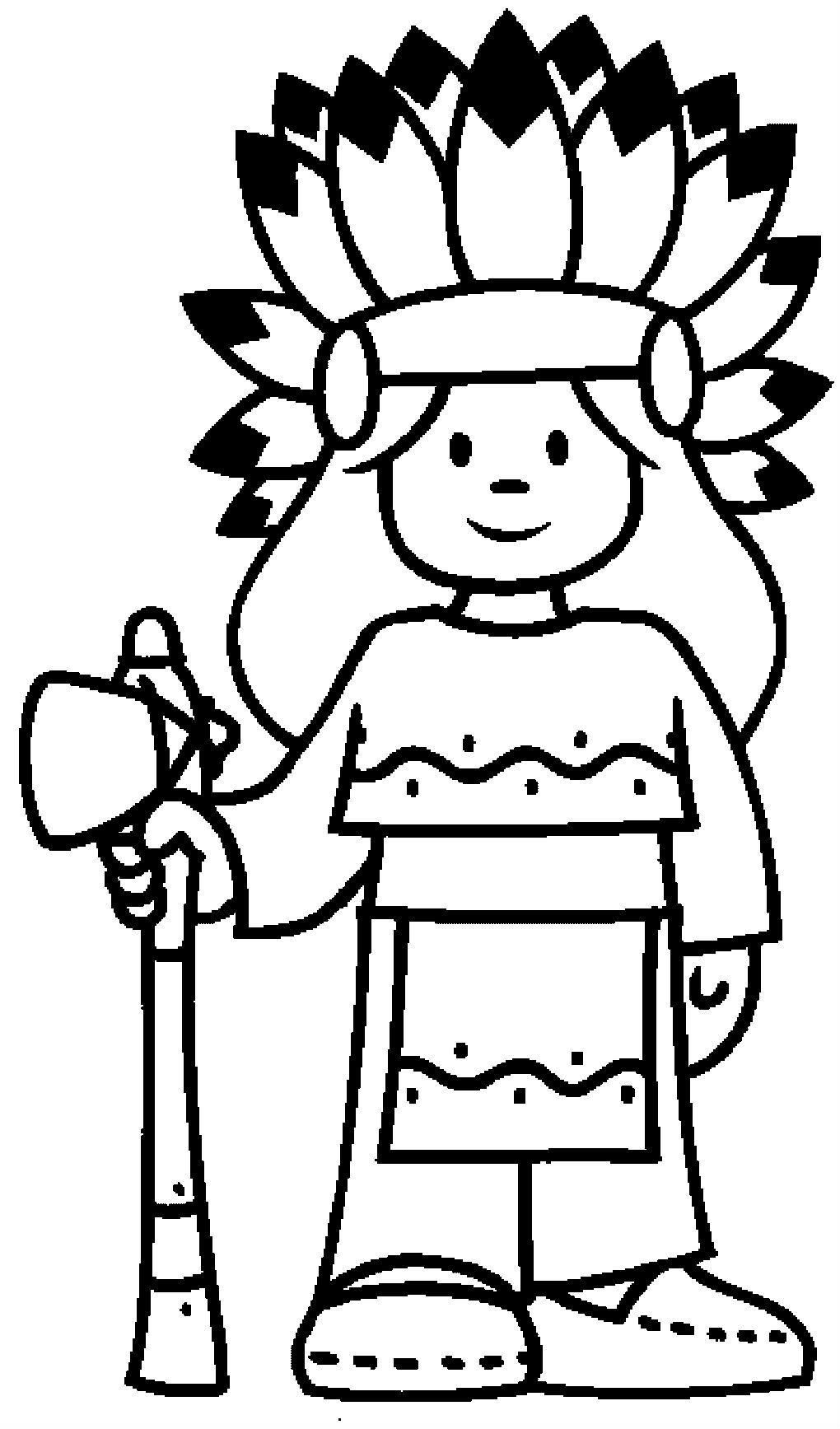 1020x1735 Indian Coloring Pages
