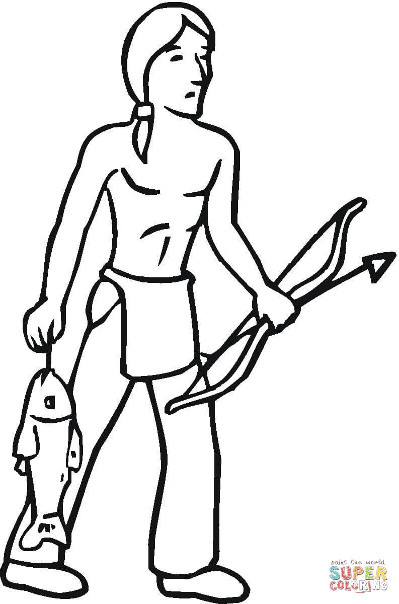 793x1200 Indian Got Some Fish Coloring Page Free Printable Coloring Pages