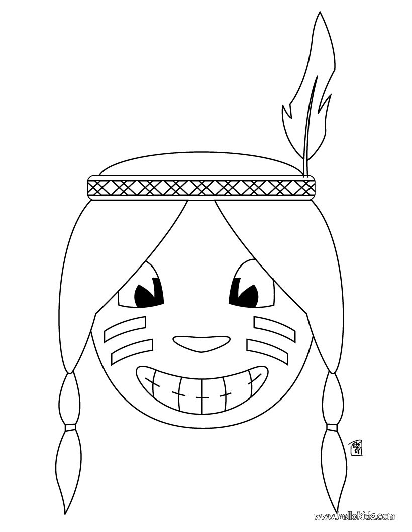 820x1060 Indian Head Coloring Pages