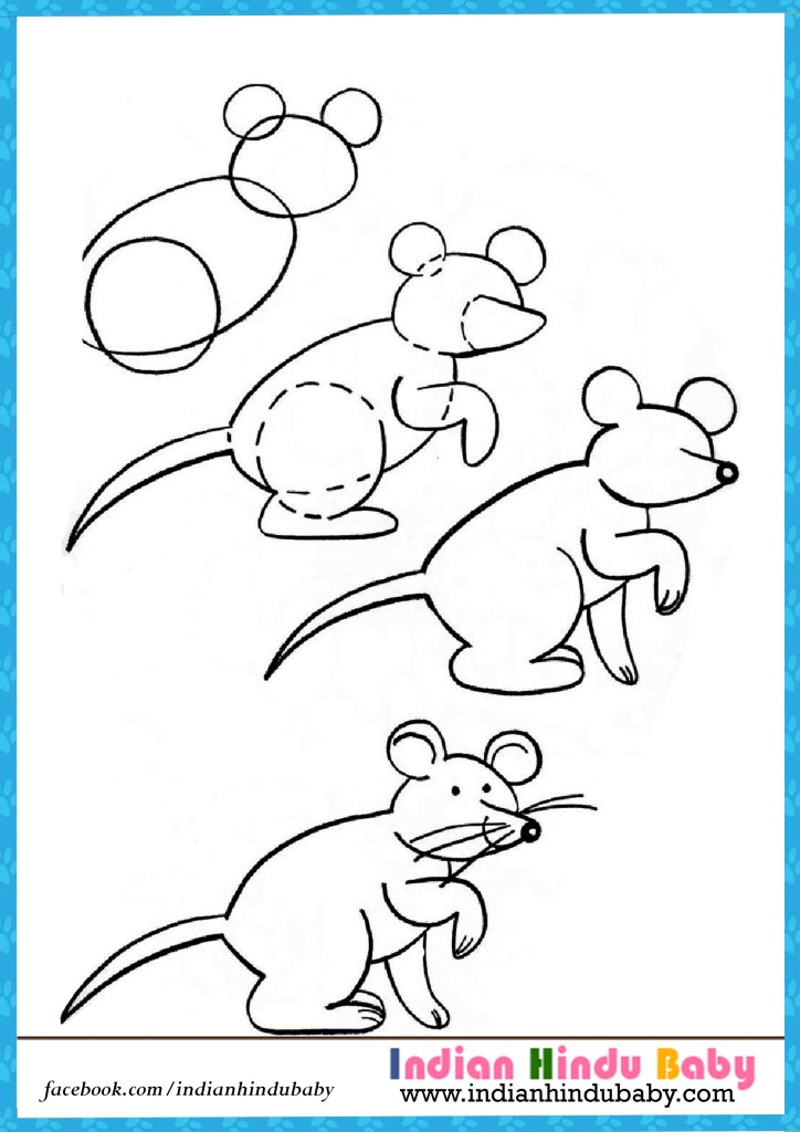724x1024 Rat Step By Step Drawing For Kids Indian Hindu Baby