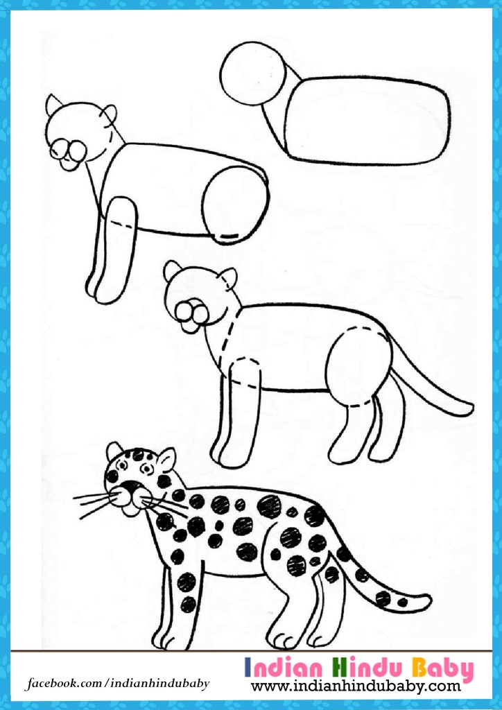 724x1024 Tiger Step By Step Drawing For Kids Indian Hindu Baby
