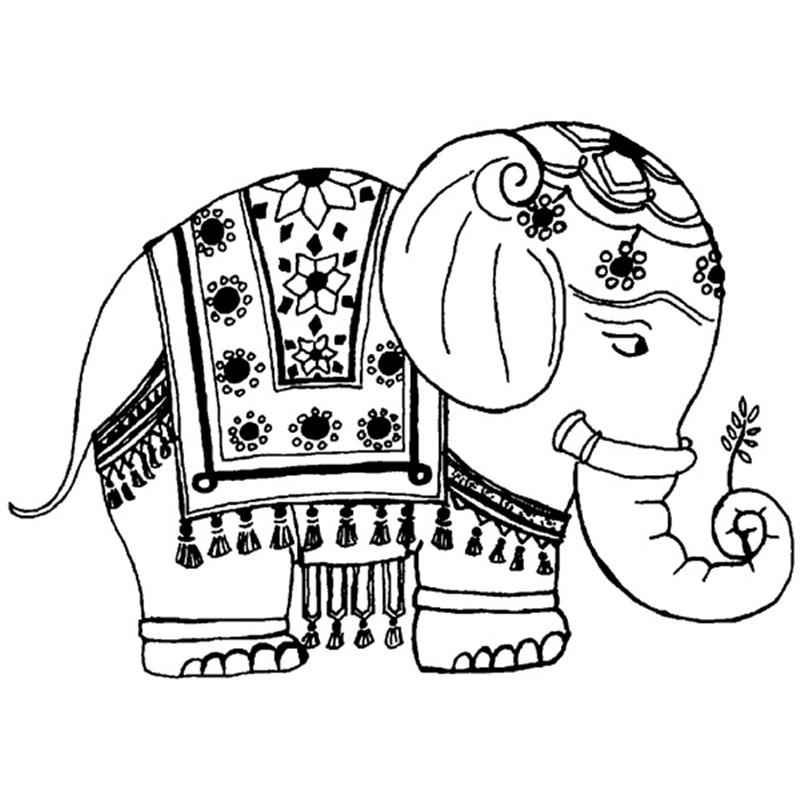Indian Elephant Drawing at GetDrawingscom Free for personal use