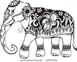 249x202 Indian Elephant Drawing