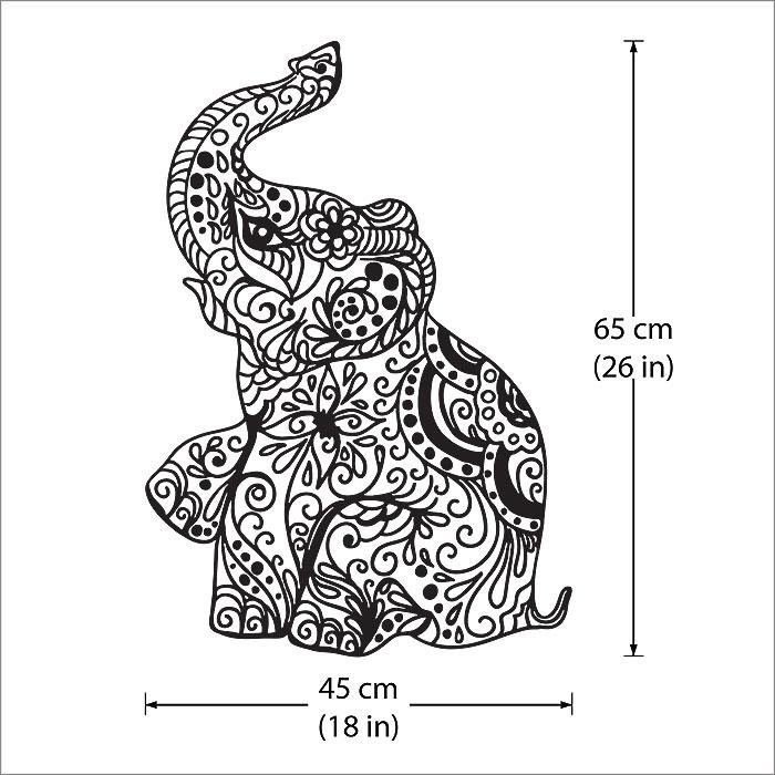 700x700 Elephant Vinyl Wall Art Decal