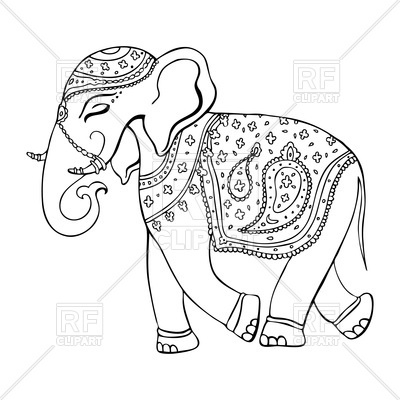 400x400 Elephant In Indian Style