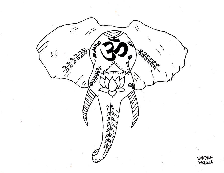 900x695 Hindu Elephant By Sandraamolina