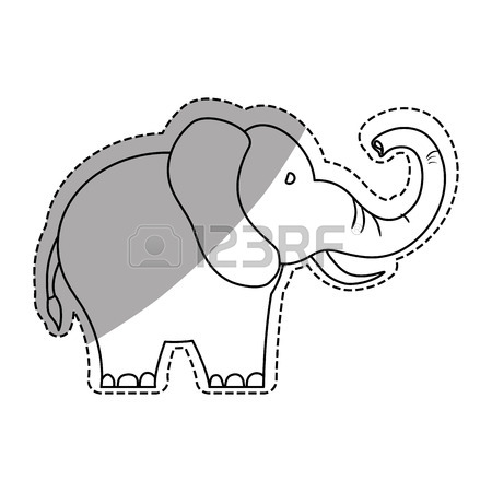 450x450 Line Drawing Elephant Stock Photos. Royalty Free Business Images