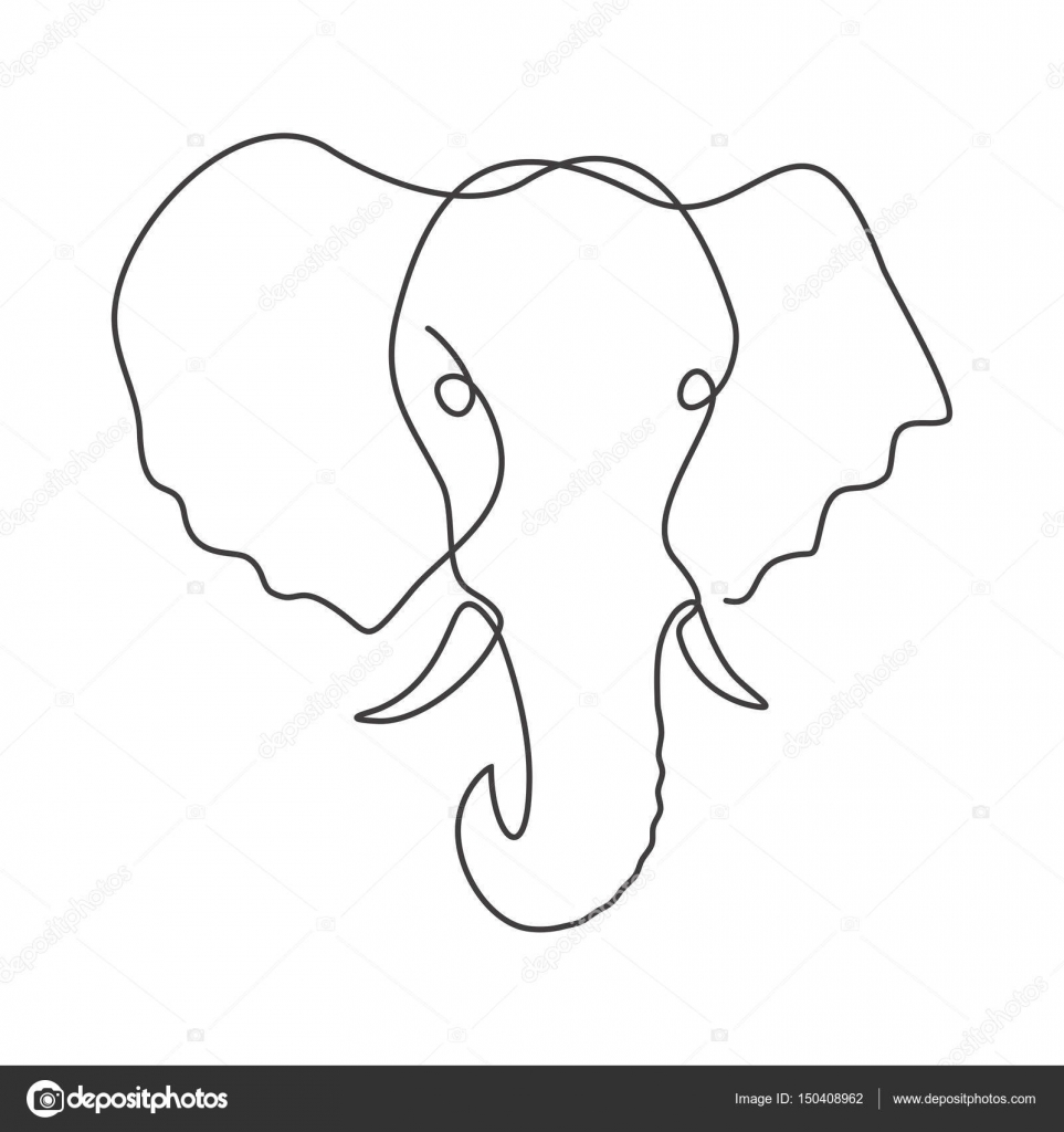 963x1024 One Line Drawing. Stock Vector Migfoto