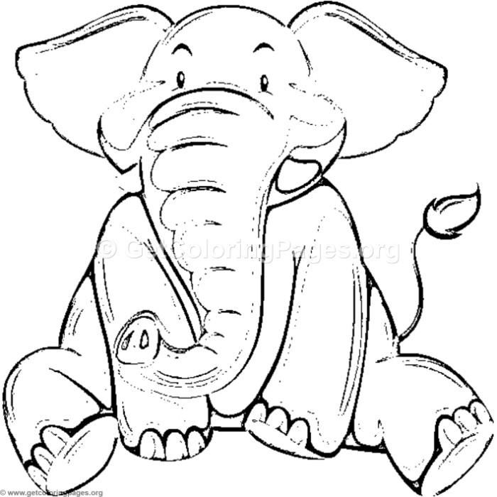 700x700 Indian Elephant Coloring Pages