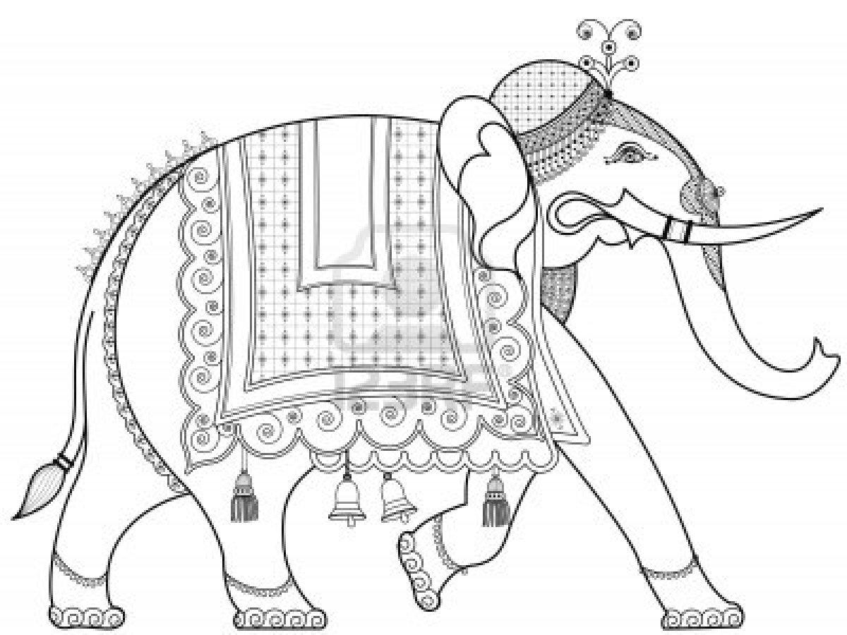 1200x900 Decorated Indian Elephant Stock Photo