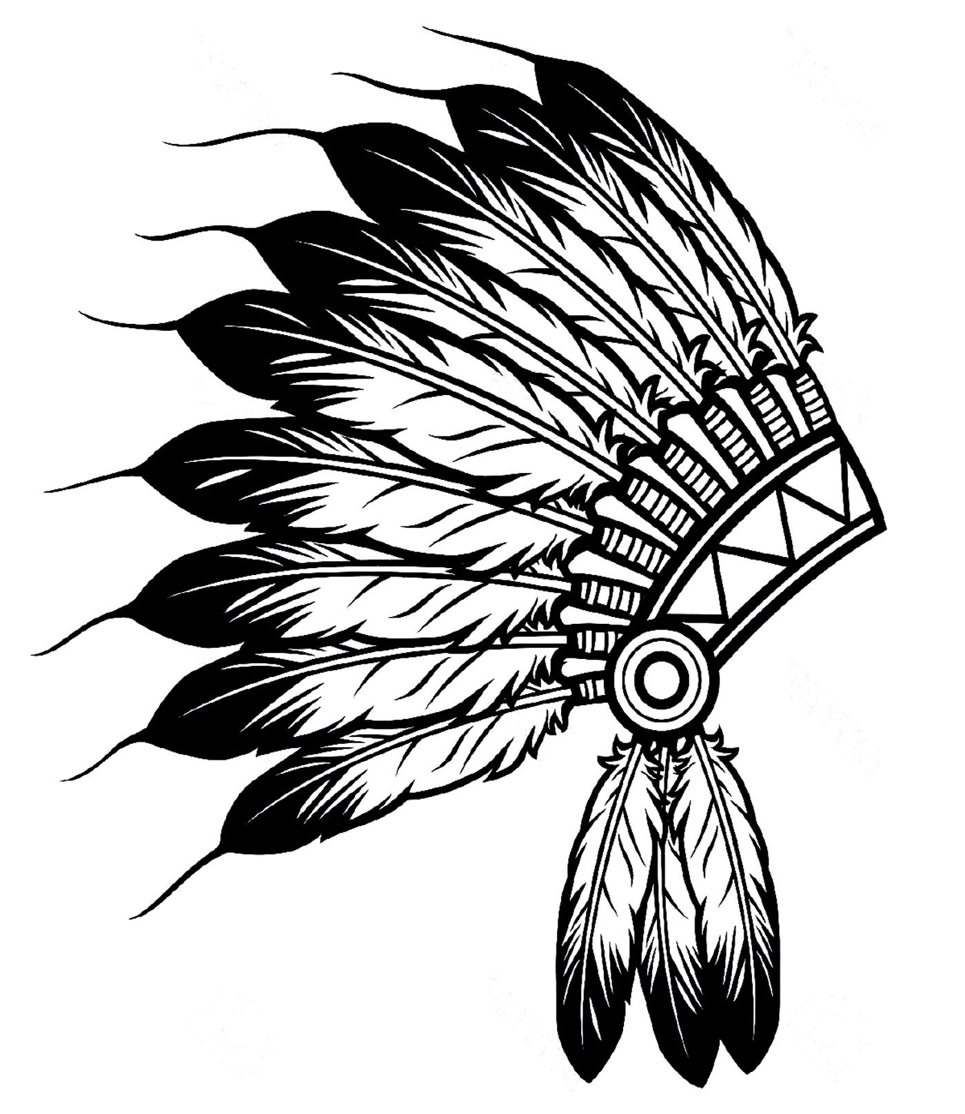 1400x1616 Indian Head Coloring Sheets Indian Headdress Coloring Page