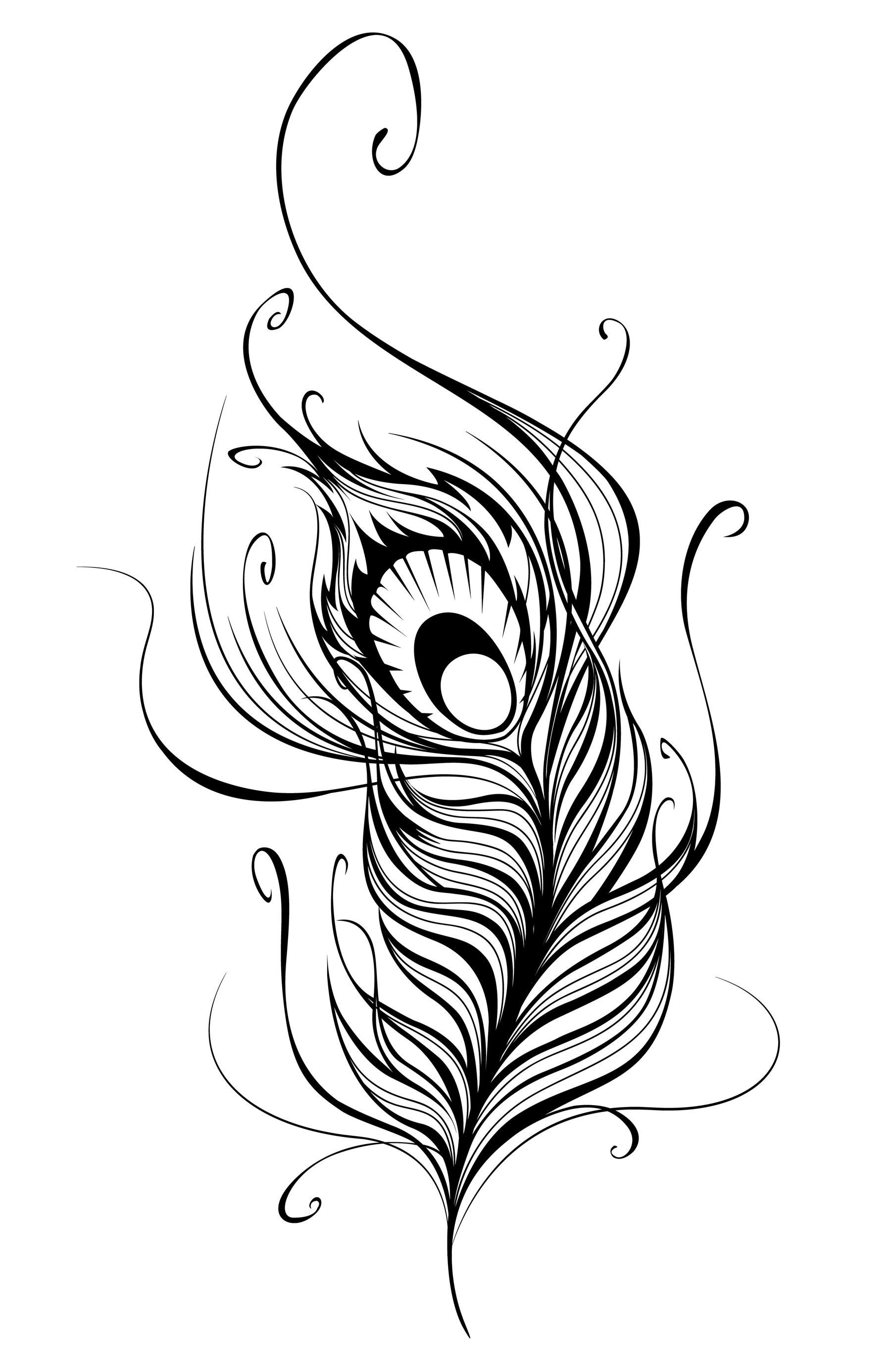1810x2761 Indian Tribal Feather Outline Clipart