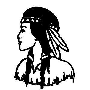 300x300 Feather Woman Clipart