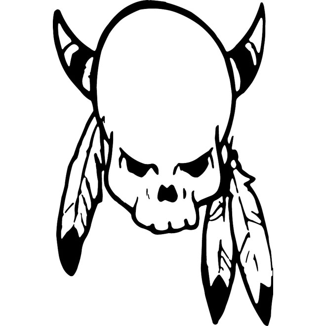 660x660 Indian Skull With Feather Vector Free Vectors Ui Download